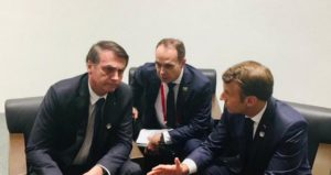 Emmanuel Macron e Jair Bolsonaro