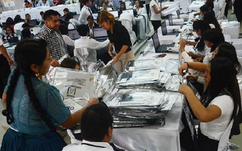 Bolívia eleições contagem de votos