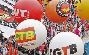 Centrais sindicais balões