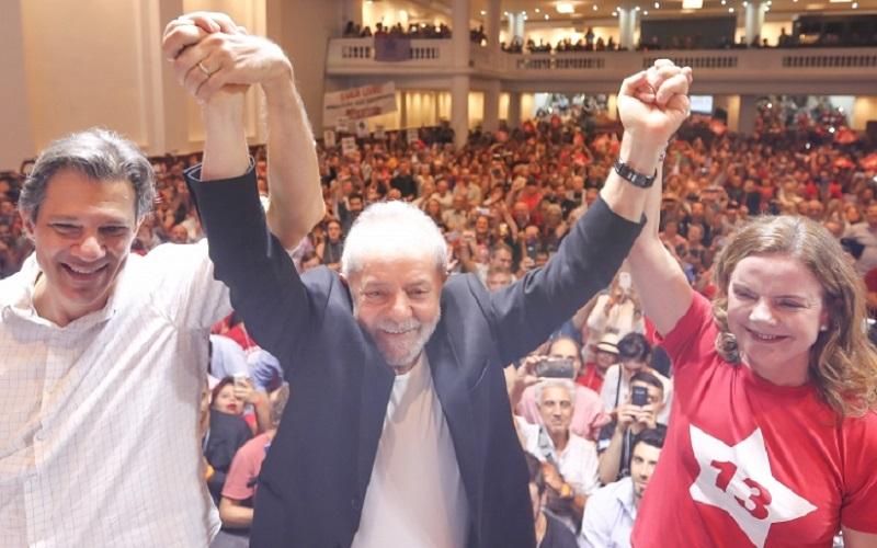 Lula, Gleisi e Haddad