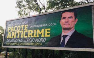 Ministro Sérgio Moro outdoor