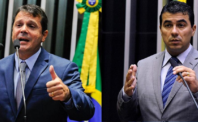 Senador Reguffe e deputado Luís Miranda