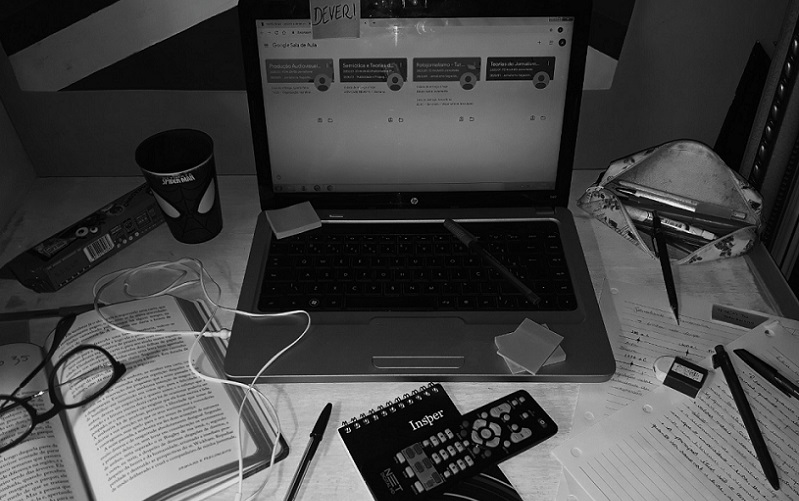 Trabalho remoto computador