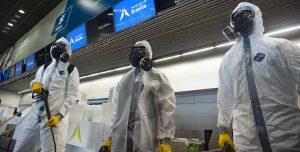 Desinfecção aeroporto Brasília