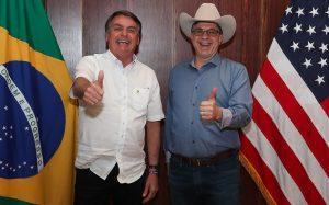 Bolsonaro e Todd Chapman