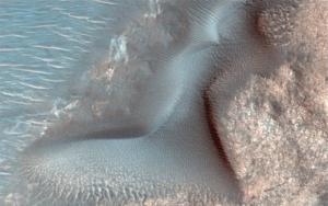 Marte ondas de areia