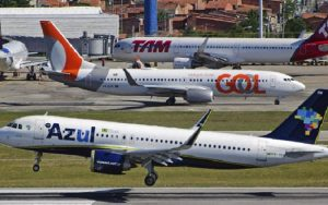 Aviões Azul, Latam e Gol