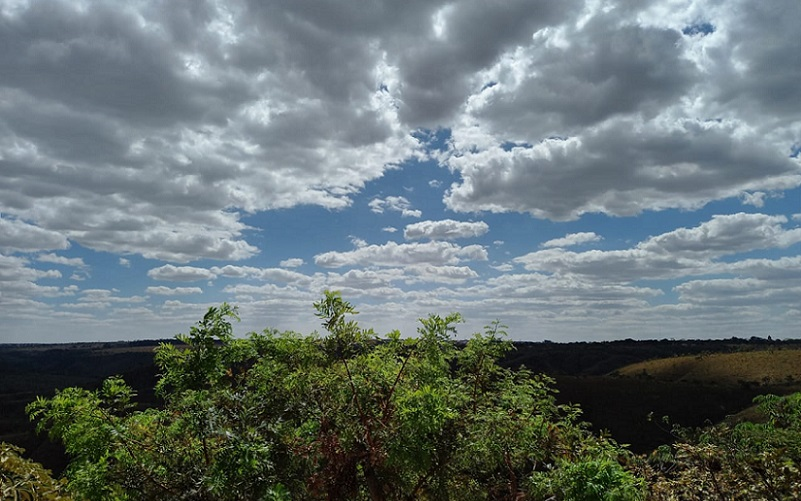 Céu nublado DF