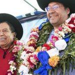 Luis Arce Catacora e seu vice David Choquehuanca