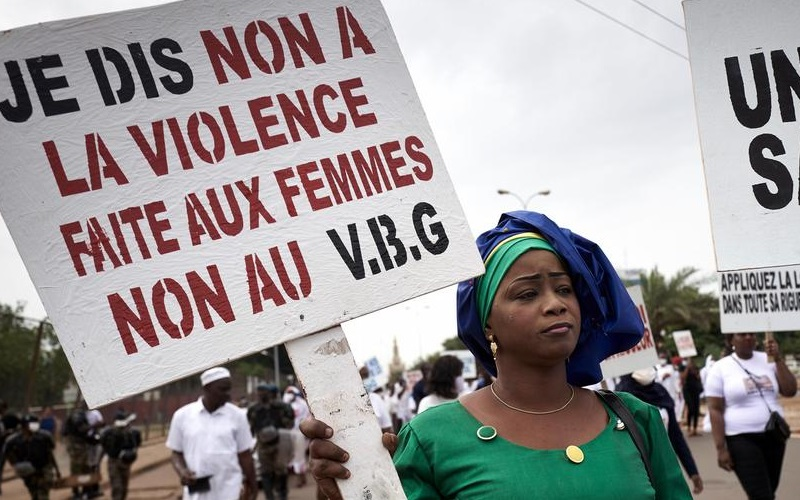 Mulheres protesto Mali