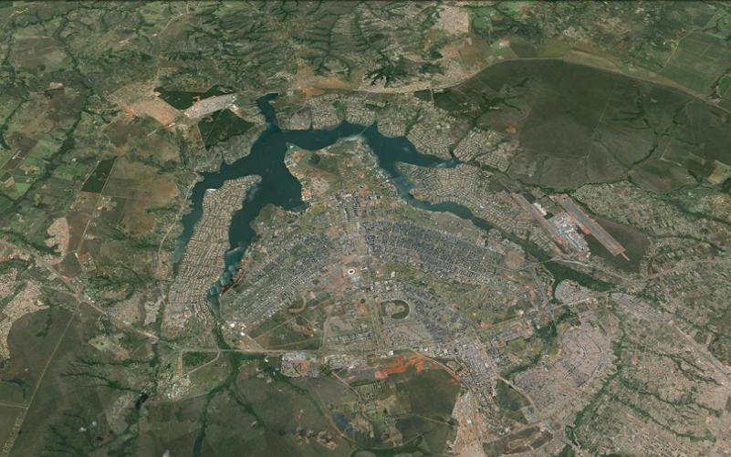 Distrito Federal foto satélite