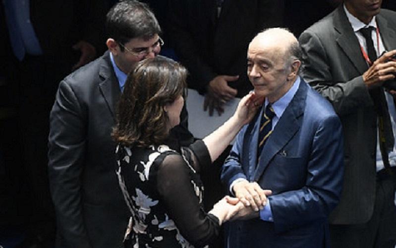 Senadores Simone Tebet e José Serra