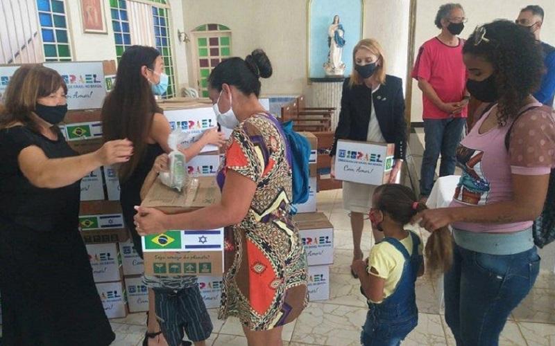 Venezuelanos doações cesta básica Misto Brasília