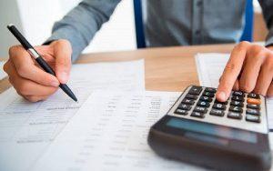 Máquina de calcular contribuinte Imposto de Renda