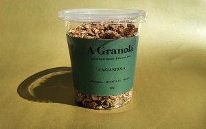 Comida granola embalagem comida