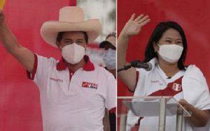 Eleições Peru Keiko Fujimori e Pedro Castillo