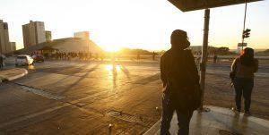 Nascer do Sol plataforma da rodoviária DF