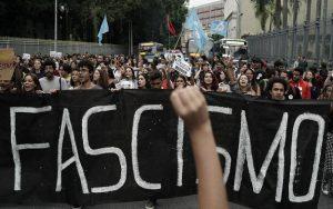 Manifestação contra o fascismo Brasil