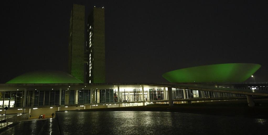 Congresso Nacional verde campanha doação de órgãos