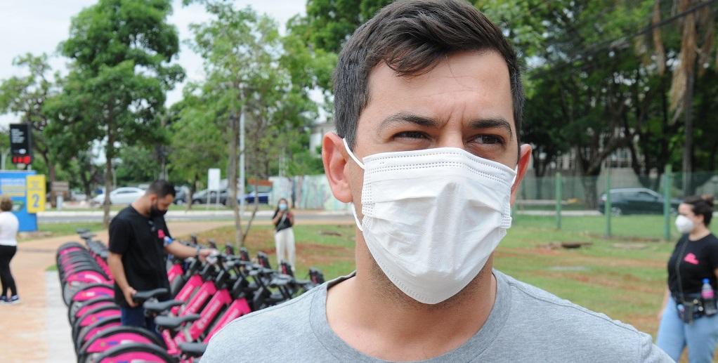 Bicicleta compartilhada Thales de Castro Misto Brasília