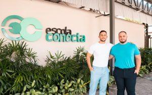 Hiago Vercino e Klisman Vercino, donos da Blue Educação Misto Brasília