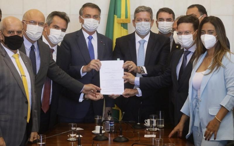 Flávia Arruda, Ciro Nogueira e Bolsonaro Misto Brasília