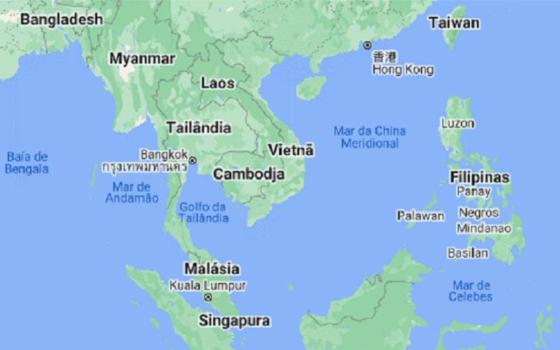 Mapa região de Taiwan Misto Brasília