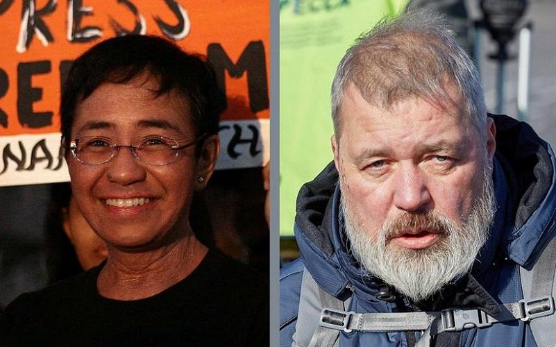 Nobel da Paz jornalistas Maria Ressa e Dmitri Muratov