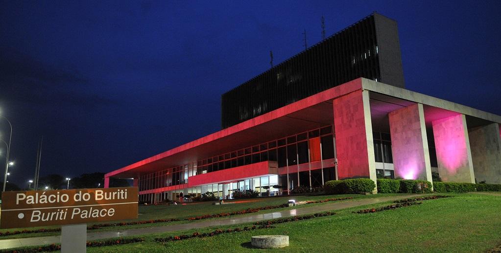 Palácio do Buriti DF Outubro Rosa Misto Brasília